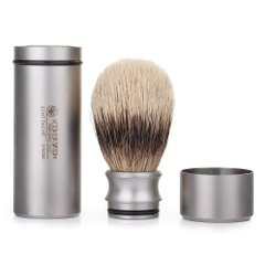 918096 Помазок  дорожній Dovo Solingen Shaving brush silvertip badger