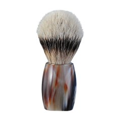 918115 Помазок ріг буйвола Dovo Solingen Shaving brush silvertip badger