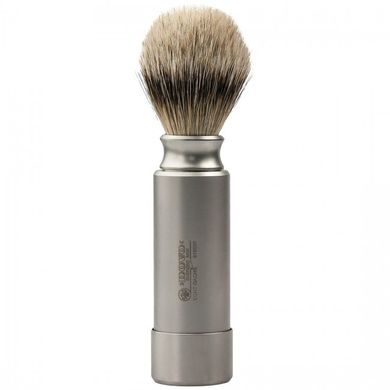 918096 Помазок  дорожный Dovo Solingen SHAVING BRUSH PURE SILVERTIP BADGER