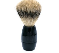 90127000 Помазок з рогу Dovo Solingen Shaving brush silvertip badger African cow horn